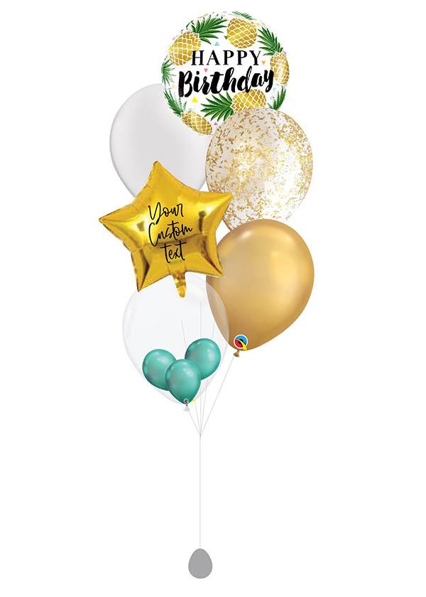 [BOUQUET] Customised Birthday Golden Pineapple