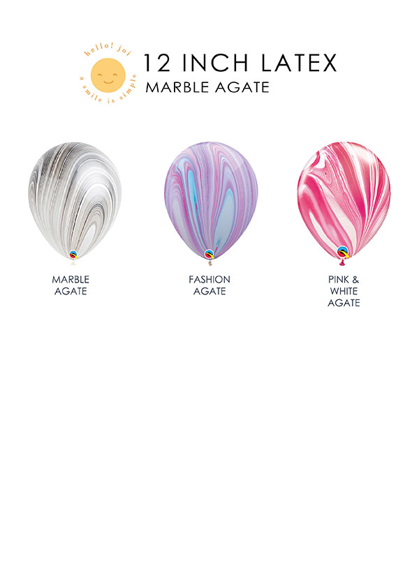 "12"" Agate [STANDARD] Latex Balloon"