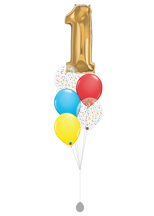 """[BOUQUET] Candypop With Single 40"""" Gold Number Foil"""