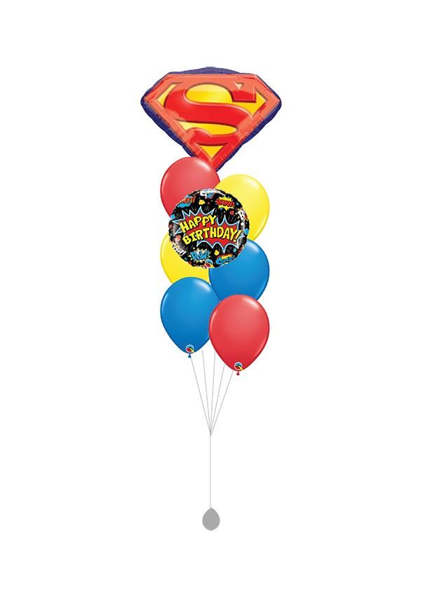[BOUQUET] Superman Logo Balloon Bouquet