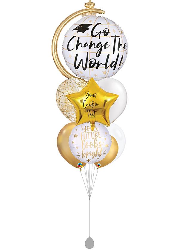 [BOUQUET] Customised Go Change The World Gold & White