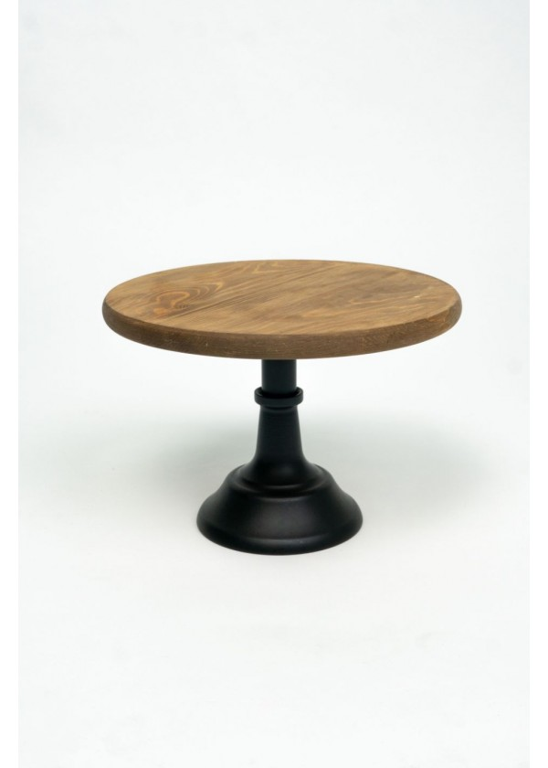 [RENTAL] Wooden Top Cake Stand with Black Stand $8.00