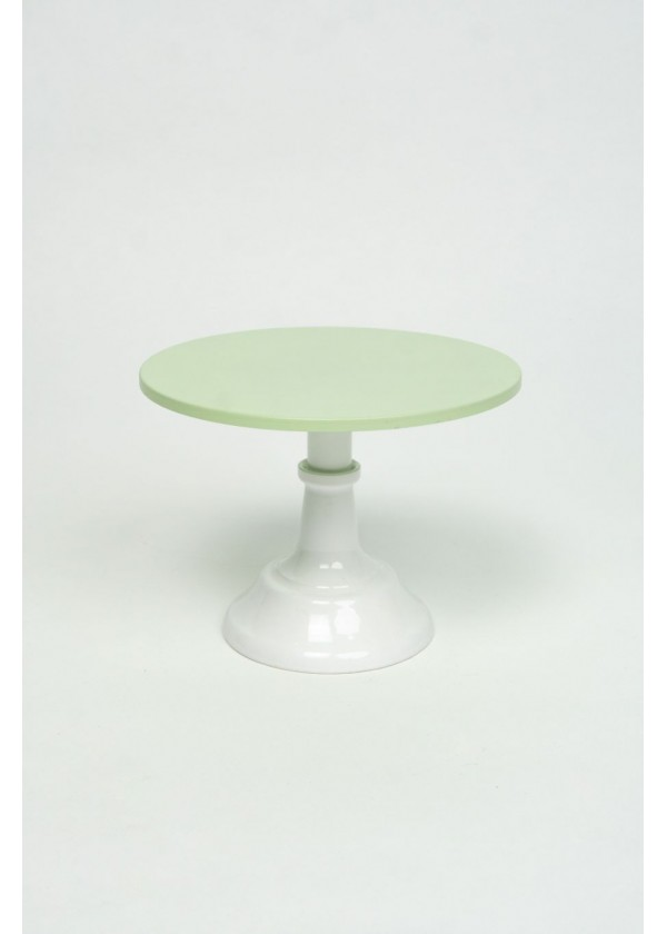 [RENTAL] Pastel Green Top Cake Stand with White Stand $8.00
