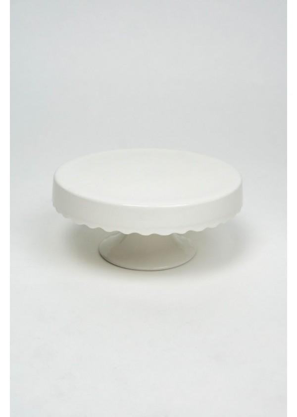 [RENTAL] White Drip Skirting Ceramic Cake Stand $8.00
