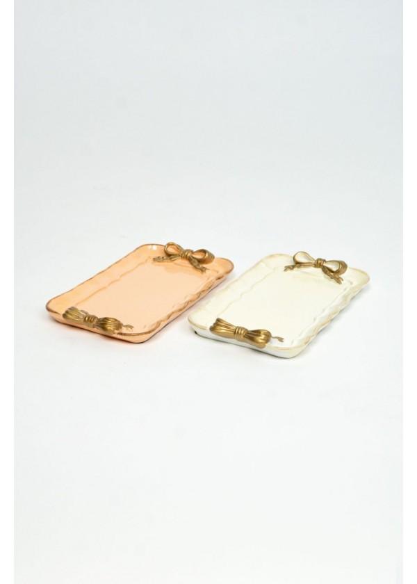 [RENTAL] Small Ceramic Ribbon Plate $2.00EA