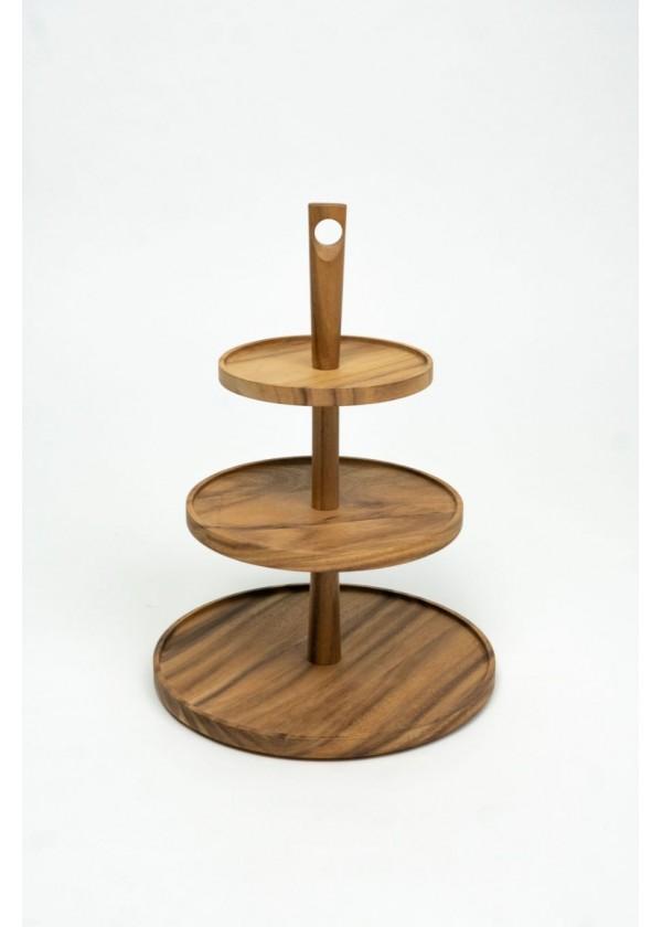 [RENTAL] 3 Tier Wooden Dessert Stand $14.00