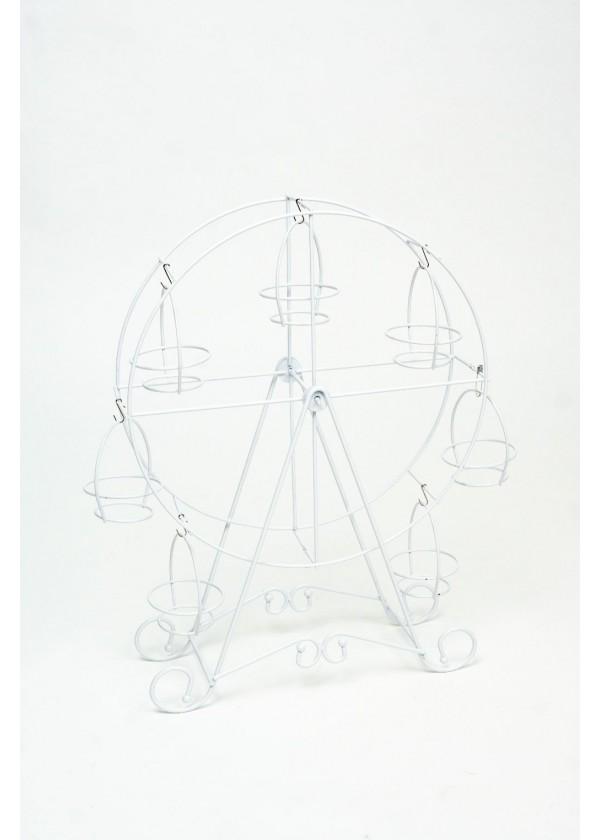 [RENTAL] White Ferris Wheel Cupcake Stand $12.00