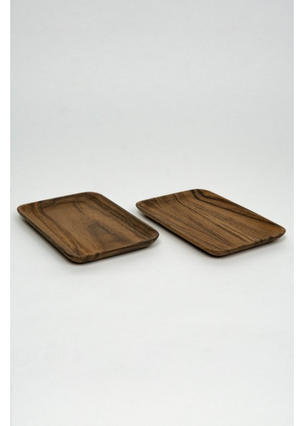 [RENTAL] Set of 2 Small Wooden Dessert Tray $4.00