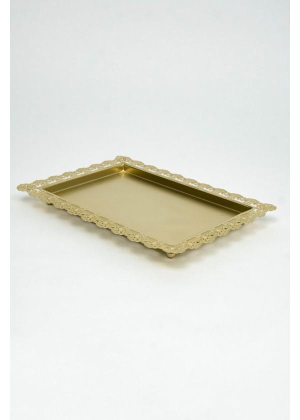 [RENTAL] Elegant Gold Dessert Tray $6.00