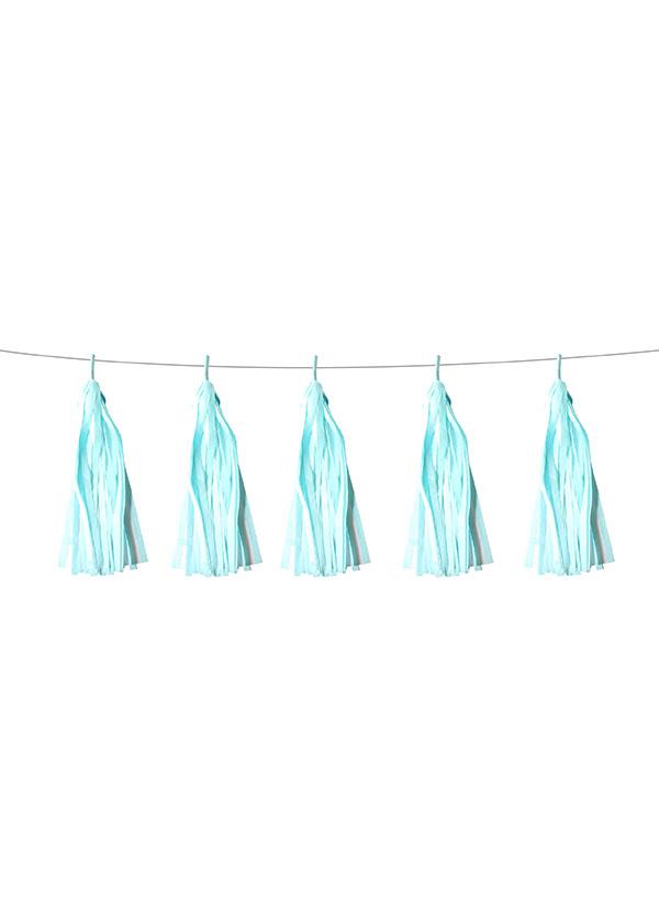 Tassel Tissue Paper Light Blue [SET OF 5]