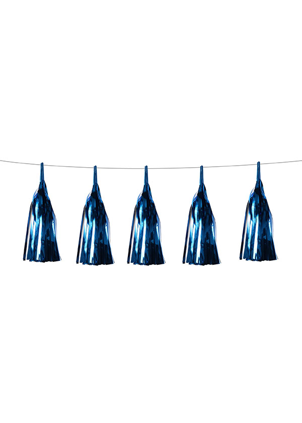 Tassel Aluminium Foil Dark Blue [SET OF 5]