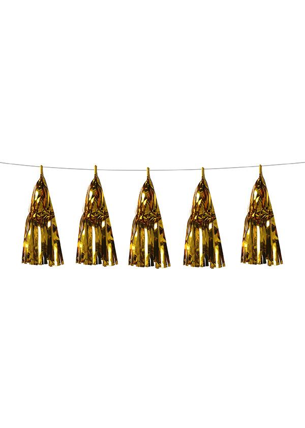 Tassel Aluminium Foil Gold [SET OF 5]