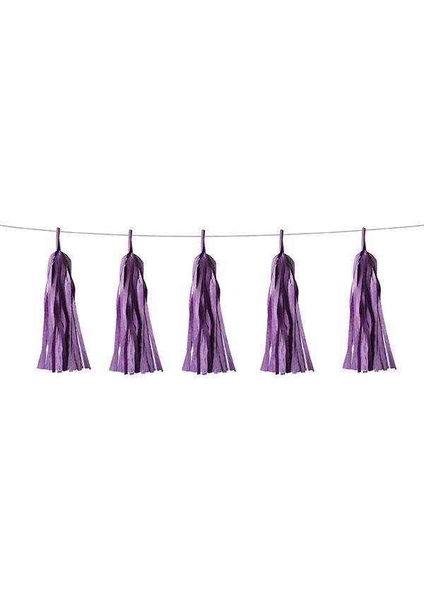 Tassel Tissue Paper Light Purple [SET OF 5]