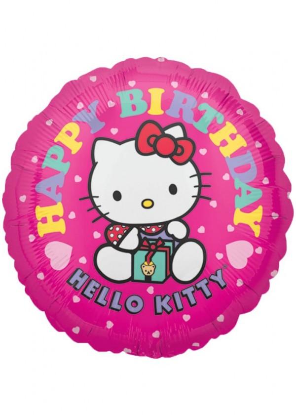 """18"""" Round BDAY Hello Kitty"""