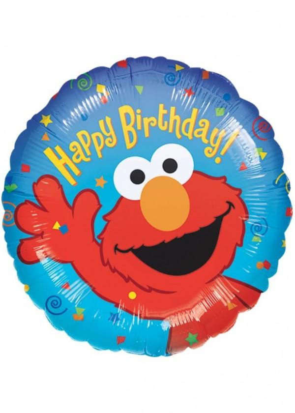 """18"""" Round BDAY Elmo Birthday"""