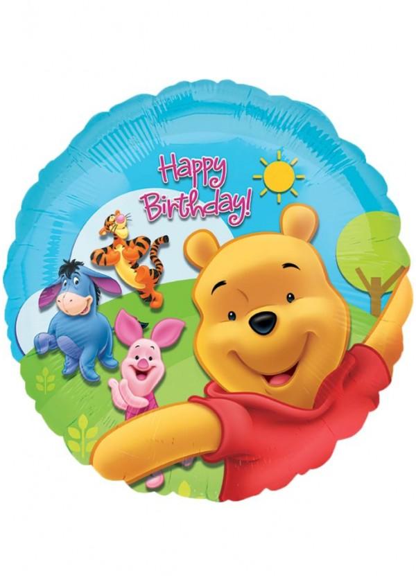 "18"" Round BDAY Winnie the Pooh Foil"