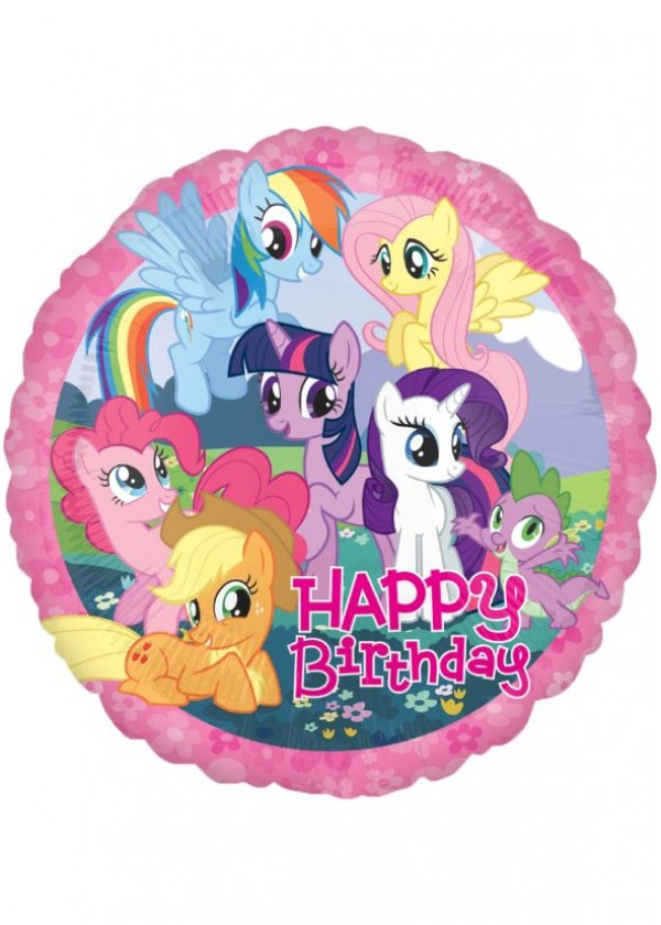 """18"""" Round BDAY MLP Birthday"""