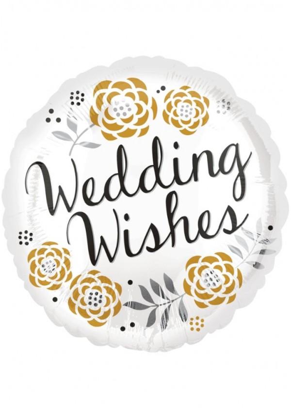 """17"""" Round Wedding Wishes"""