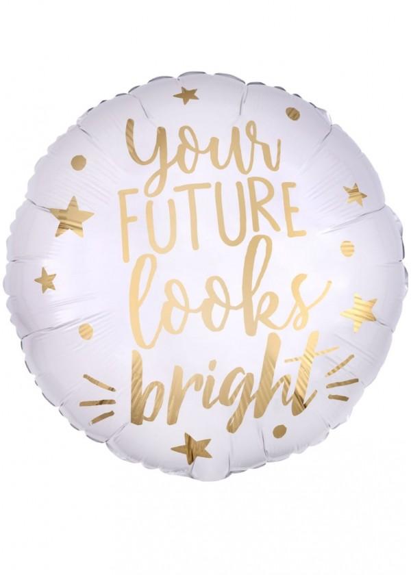 """18"""" Round GRAD Your Future Looks Bright"""