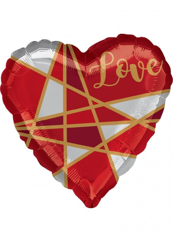 "18"" Heart Love Lines"