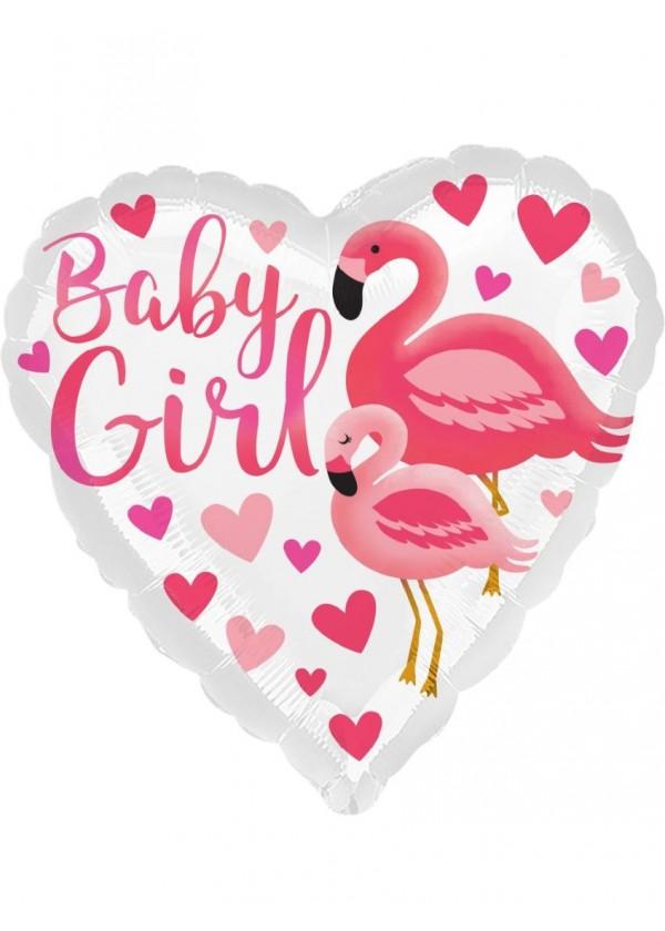"18"" Heart Flamingo Baby"