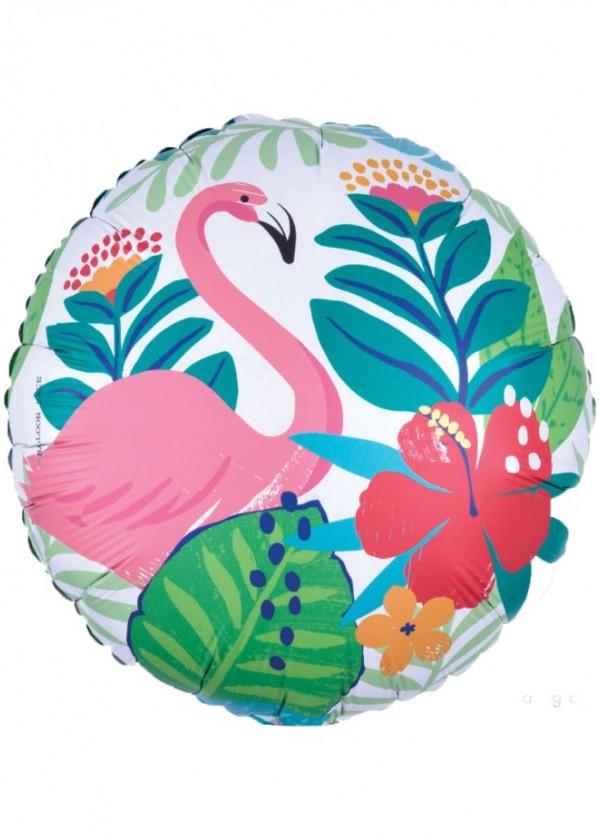 """18"""" Round Tropical Flamingo"""