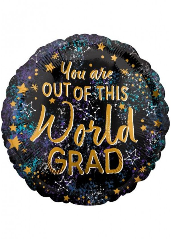 """18"""" Round GRAD Out of This World Grad"""