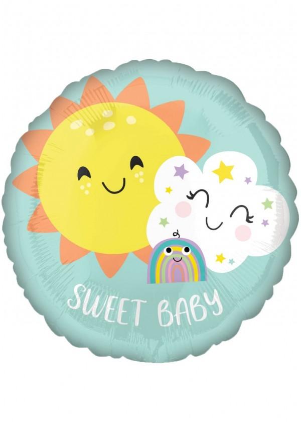 """18"""" Round BABY Sweet Baby Rainbow"""