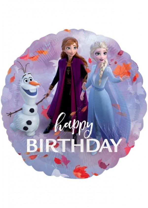 """18"""" Round Frozen 2 Happy Birthday"""