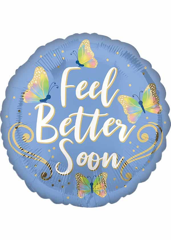 """18"""" Round Get Well Feel Better Butterflies"""
