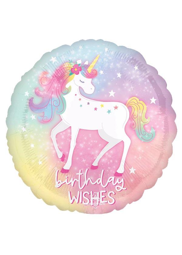 "18"" Round BDAY Enchanted Unicorn Birthday"