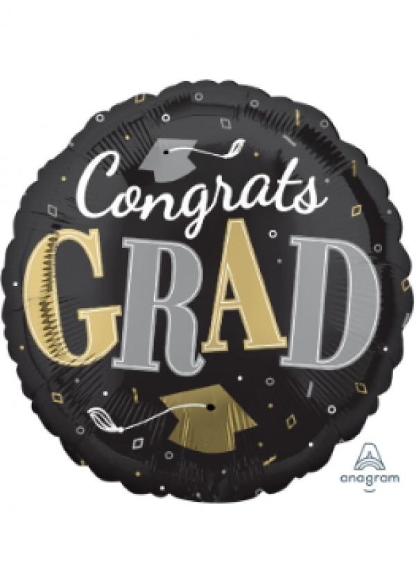 """18"""" Round GRAD Well Done Grad"""