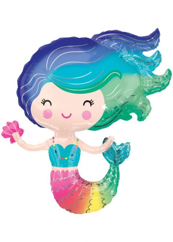 """[Supershape] Rainbow Mermaid 29"""" x 30"""""""