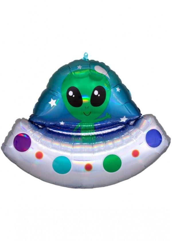 "[Supershape] Alien Space Ship Irridescent 28"" x 21"""