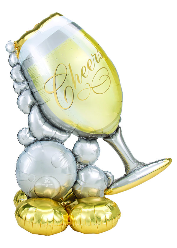 """[Airloonz] Bubbly Wine Glass 41"""" x 51"""""""