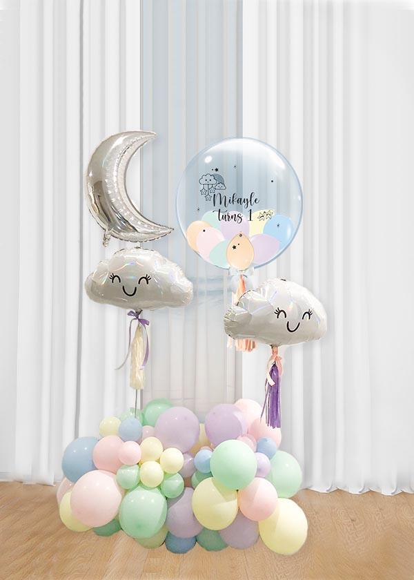 [Organic Balloon Structure] Pastel Cloud