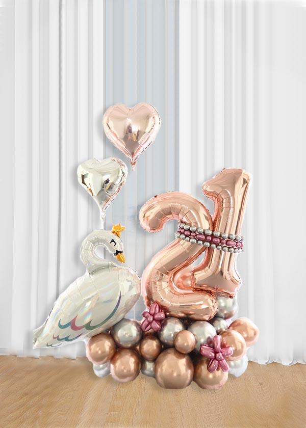 [Organic Balloon Structure] Princess Swan