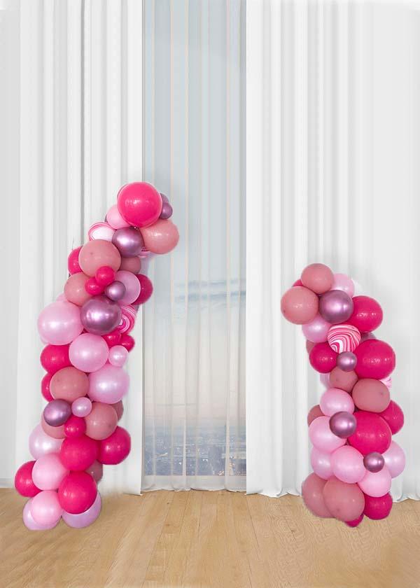 [Organic Deconstructed Balloon Garland] Berries Slush Theme 1.5m + 2m