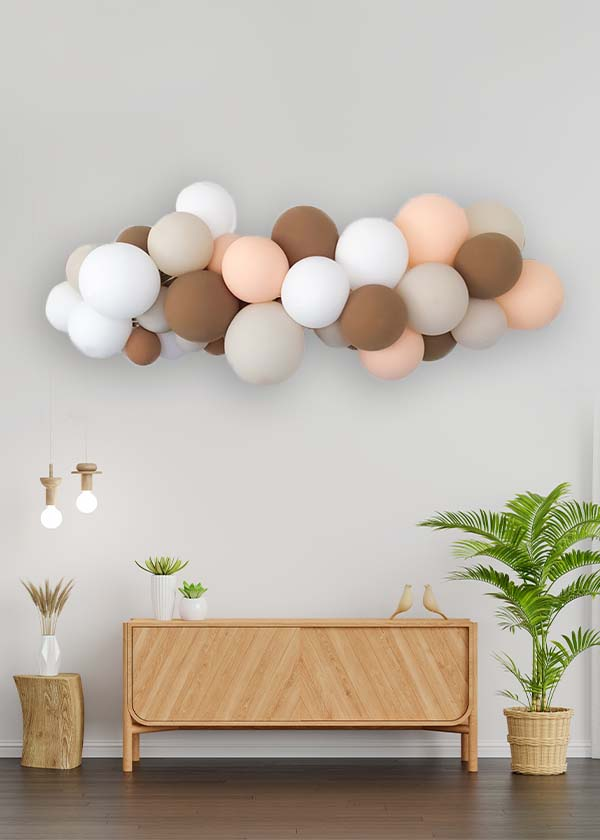 [Organic Balloon Garland] Brown Neutral Theme
