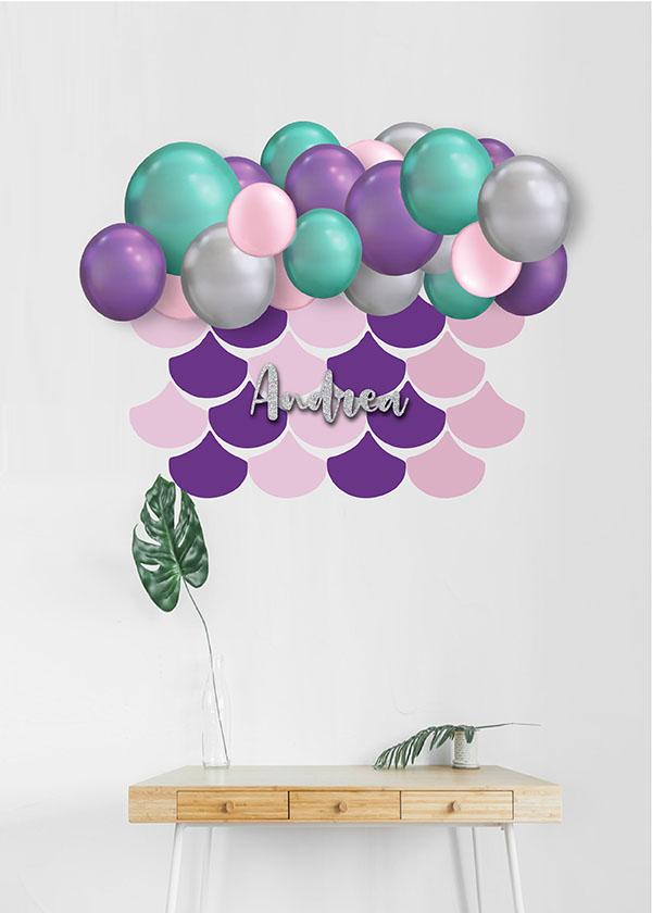 [Organic Balloon Garland] Mermaid Theme