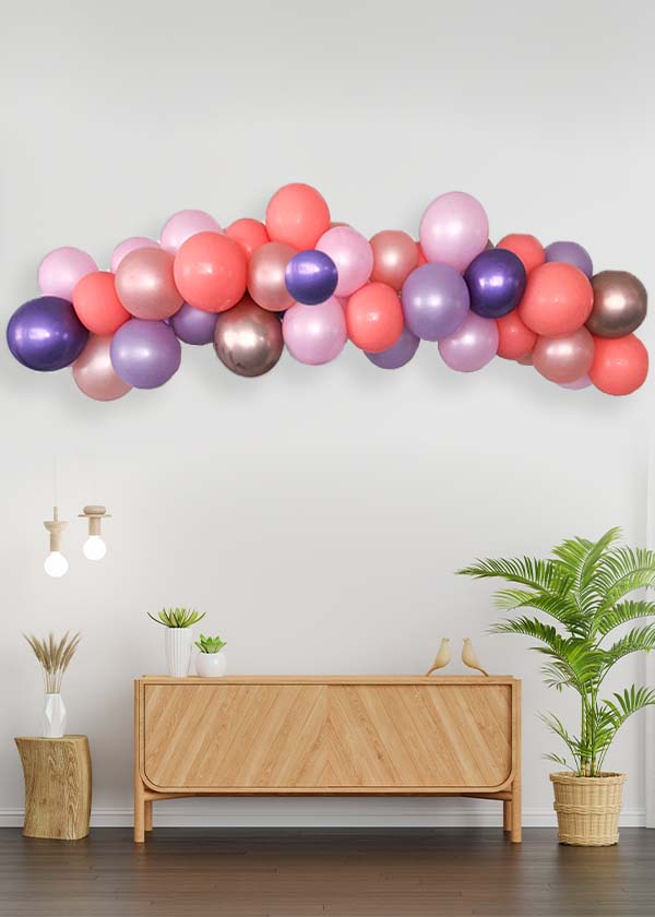 [Organic Balloon Garland] Purple Delight  Theme