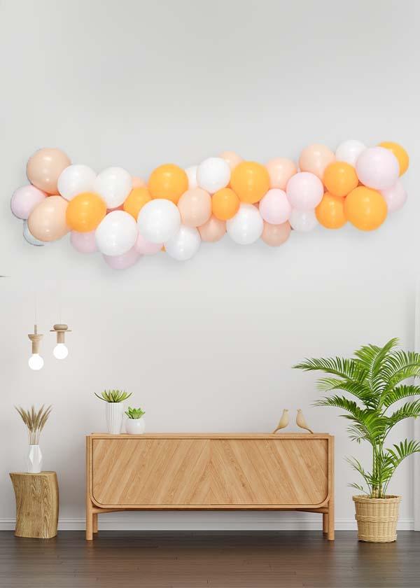 [Organic Balloon Garland] Summer Mango Theme