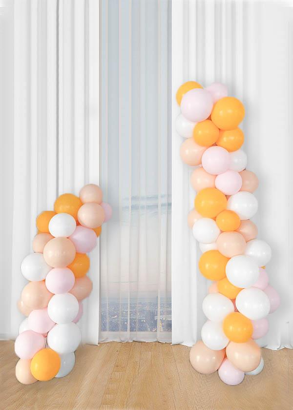 [Organic Deconstructed Balloon Garland] Summer Mango Theme 1.5m + 2m