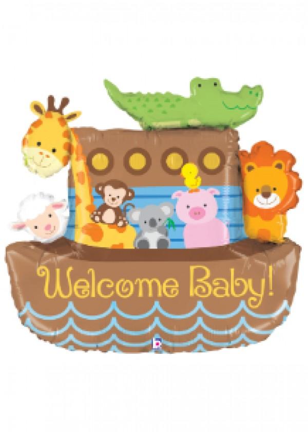 """37"""" Noah's Ark Welcome Baby"""