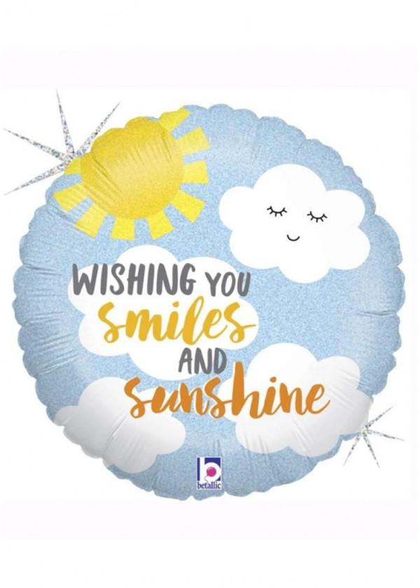 """17"""" Round Smiles and Sunshine"""
