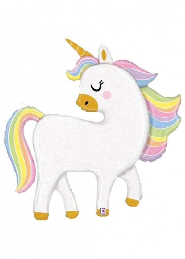 "48"" Glitter Pastel Unicorn"