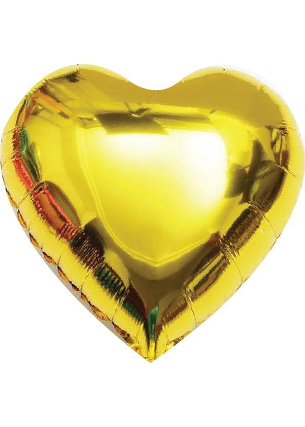 """24"""" Heart Plain Foil Gold"""