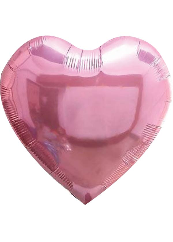 """24"""" Heart Plain Foil Pink"""