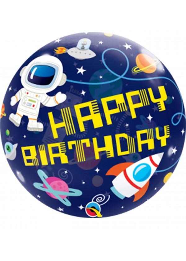 """22"""" Outer Space Bubble Balloon"""