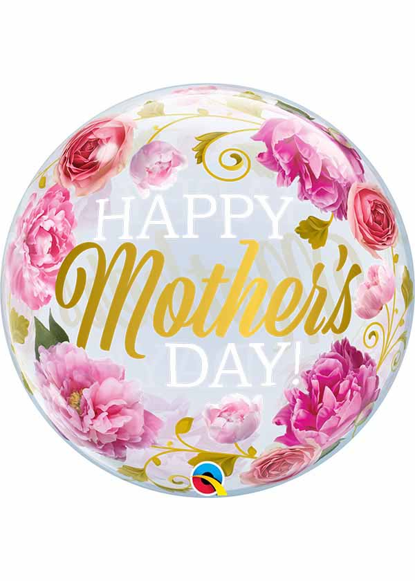 """22"""" Mother's Day Pink Peonies Bubble"""